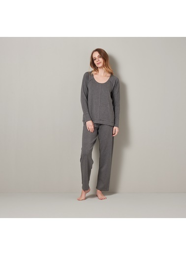 Chakra Terry Pijama Takımı Gri